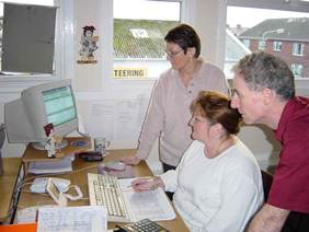 The SelClene Glasgow South office staff